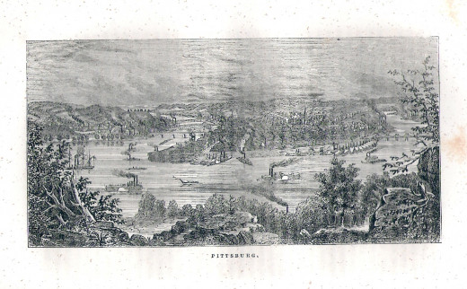 View of Pittsburgh, PA in 1877