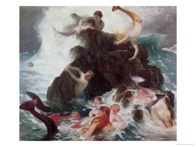 """""""Das Spiel der Najaden"""" by Arnold Böcklin, 1886"""