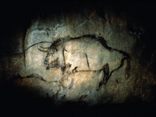 View of a bison painted at Lascaux approximately  17,000 years ago Photo by Sisse Brimberg