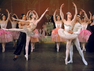 Ballerina Maria Tallchief and Others Performing the Nutcracker Ballet at City Center  By: Alfred Eisenstaedt
