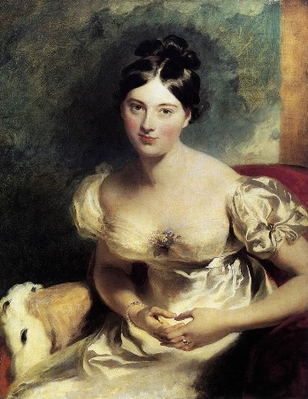 I hope you enjoyed seeing new ways to dress for Halloween or everyday.   This woman is the Countess of Blessington and this was painted in 1820.  It is by Sir Thomas Lawrence.