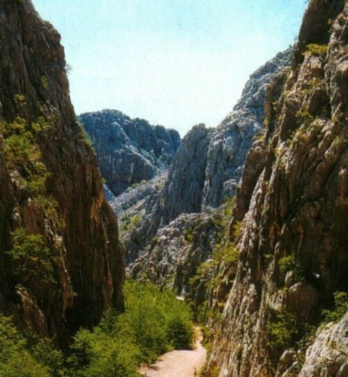 Canyon of Big Paklenica.