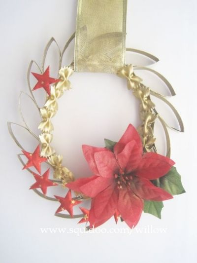 Decorate as you wish and hang it on the door!