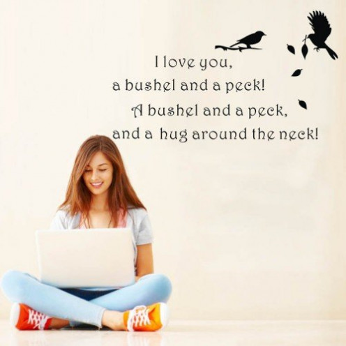 I Love You a Bushel and a Peck Wall Decal
