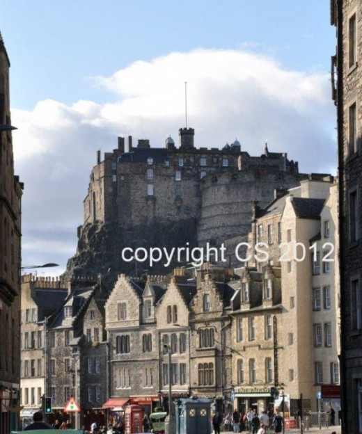My Own Picture Of Edinburgh Castle From the Grassmarket Taken with a Nikon D90