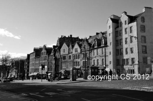 Edinburgh Grassmarket.  My picture with a Nikon D90