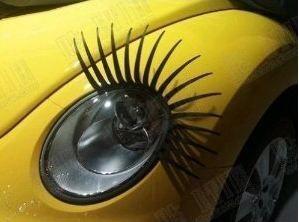 Eyelashes for Cars