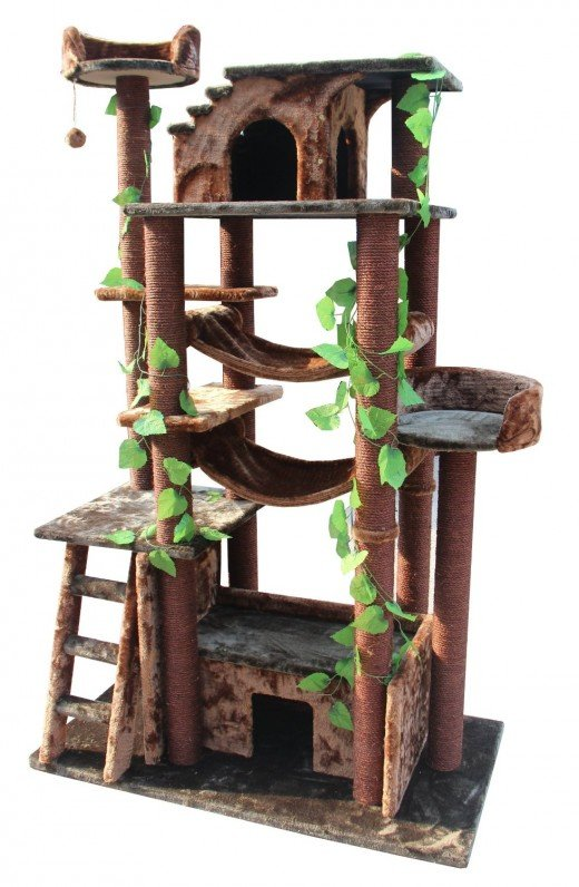 how to make your own cat tower or cat tree pethelpful