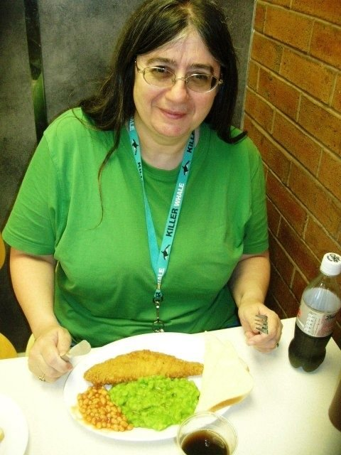 Or in my case fish and mushy peas, minus the chips, and diet coke - got to watch the waistline!
