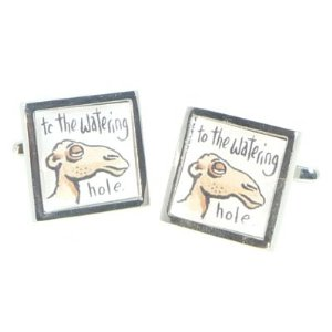 Funky novelty cufflinks available on Amazon UK. A great stocking filler.