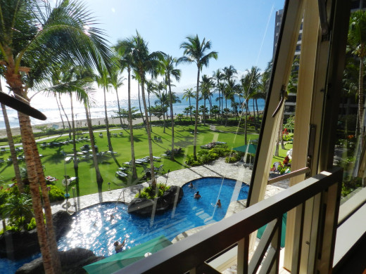View from villa window.
