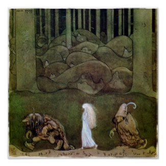 John Bauer One summer's evening Poster by MyOtherPlanet
