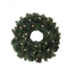 Artificial Christmas Wreath with Lights