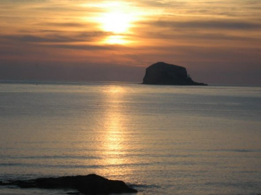 Sunrise over the Bass Rock