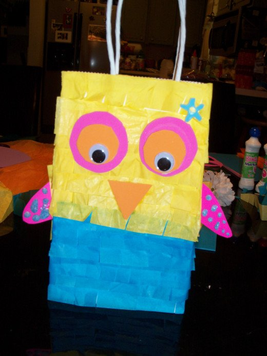 This cute owl design was created by an 11 year old girl. She made these herself to give her friends at her birthday party