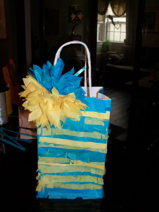 pretty paper flower treat bag