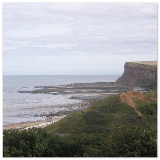 Huntcliff Nab, 365 ft high cliffs