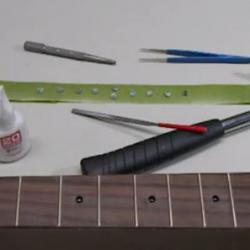 Guitar Inlay Preparation