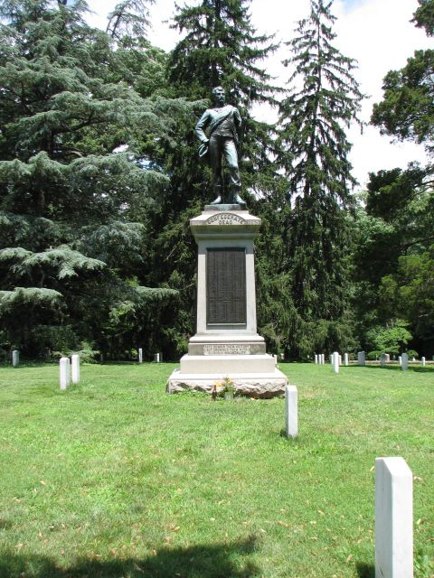 Atlas cedar (Cedrus atlantica) and Norway spruce (Picea abies); Confederate cemetery, Charlottesville, VA