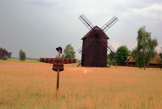 Oat Field with Scarecrow