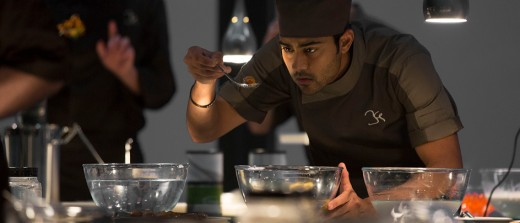 "Hassan (Manish Dayal) begins to realize what is lacking in the cuisine of Paris in ""The Hundred-Foot Journey""."