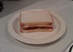 Fishfinger (Fishstick) and Cheese Toastie Sandwich Recipe