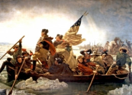 General George Washington Crosses the Deleware  by Emanuel Leutze [Public domain]