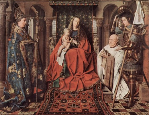 Jan Van Eyck 'The Madonna with Canon Van der Paele'