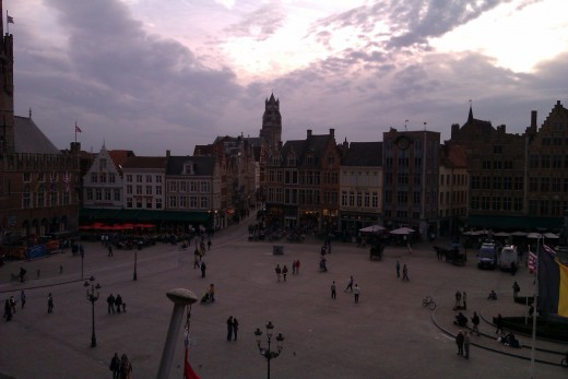A view of the Markt, taken from the observation balcony of the Historium.