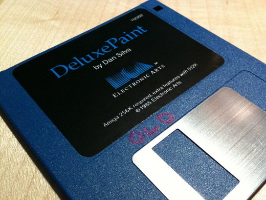 Deluxe paint floppy disk
