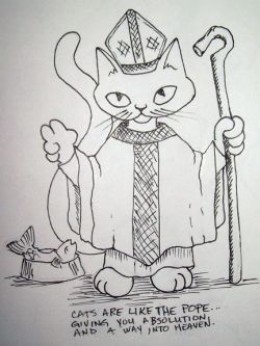 """""""And I know, it might be irreverent⦠but I couldnât resits doing a Pope Cat"""""""