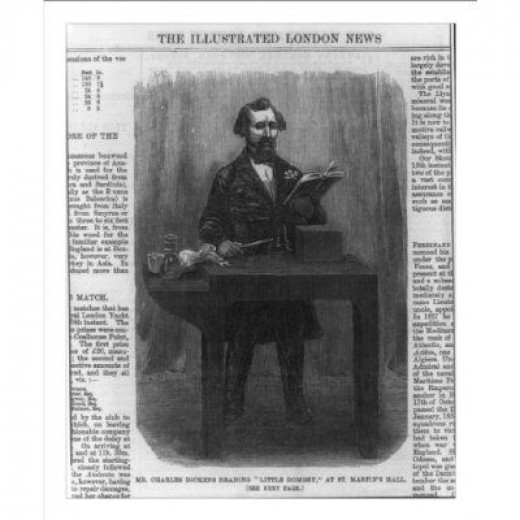 Charles Dickens Reading Little Dombey at St. Martin's Hall