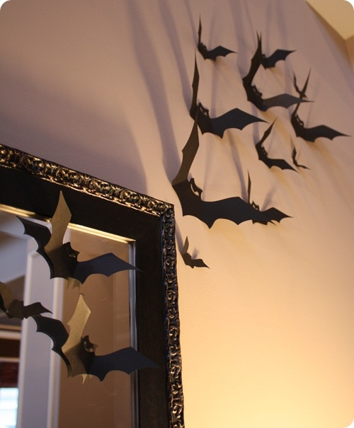 Bats on the wall. Featured on the Home Teacher Blog.