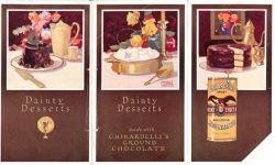 Vintage Ghirardelli Ground Chocolate Flyer