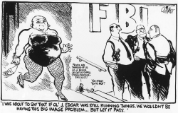 Political Cartoon of Hoover in a Dress