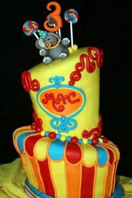 Mac's Circus Cake by Stacie aka Whimsy Cakes, via Flickr