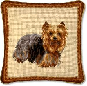 Yorkie pillow courtesy of needlepointpillows.com