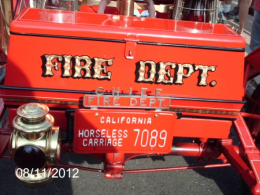 An old fire truck.