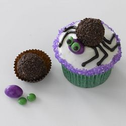 Candy Spider Cupcake