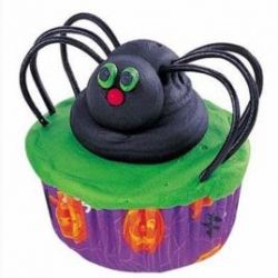 Silly Spider Cupcakes