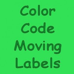 Color Code Moving Labels