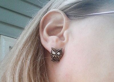 My Vintage Owl Earrings