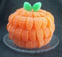 Orange Slice Pumpkin Halloween Craft