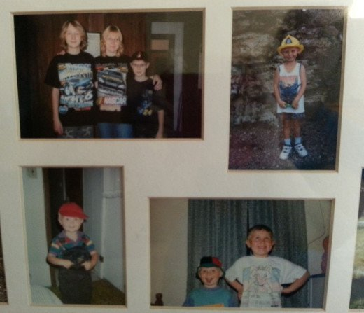 My Boys! Aren't they cute! Each picture was taken a different home we lived at.