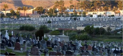 The Necropolis of Colma, California