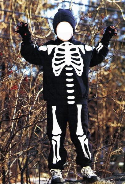 An Easy Skeleton Costume To Make