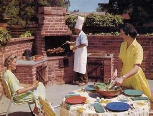 They even had outdoor kitchens in the 50's!