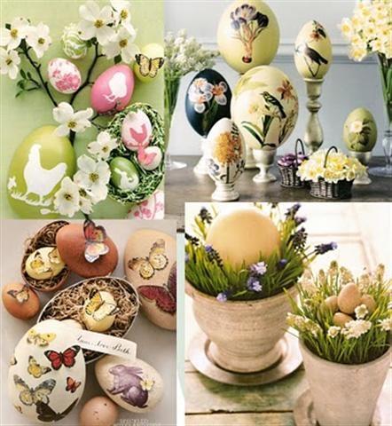 Decoupage lovely Easter eggs!