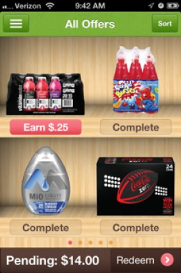 This is what the offers look like in the app.