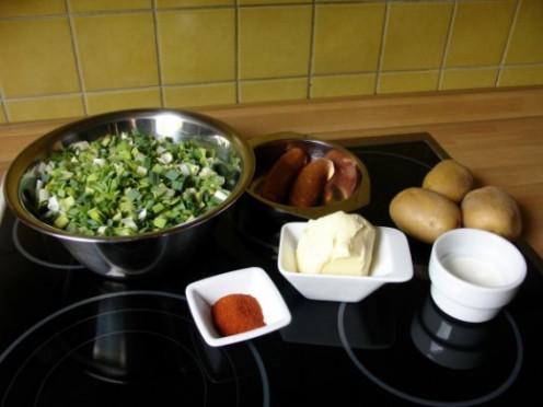 My leek and potato soup basic ingredients